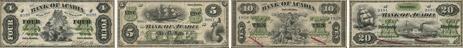 Bank of Acadia banknotes of 1872