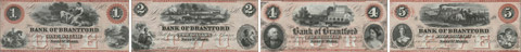 Bank of Brantford banknotes of 1859 - Red