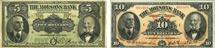 Molsons' Bank banknotes of 1918