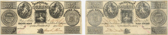 30 sous 1837 - Quebec Bank