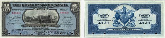 20 dollars 1920 - Royal Bank of Canada banknotes