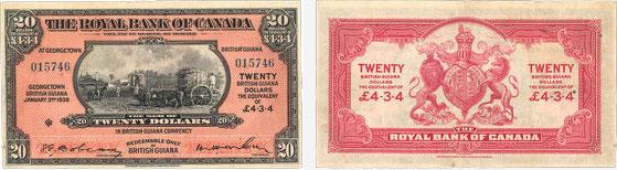 20 dollars 1938 - Royal Bank of Canada banknotes