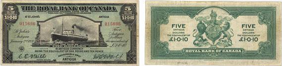 5 dollars 1920 - Royal Bank of Canada banknotes