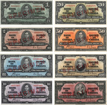 Canadian banknotes of 1937