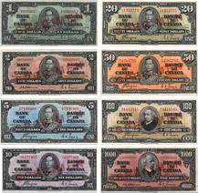 Billets de banque du Canada de 1937