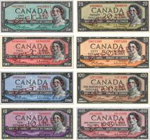 Billets de banque du Canada de 1954 sans la face du diable