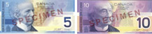 Canadian banknotes of 2001 and 2002