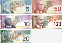 Canadian banknotes from 2004 to 2006