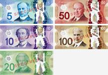 Billets de banque du Canada de 2011 à 2018