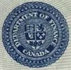 1 dollar 1923 - Sceau bleu - Dominion of Canada