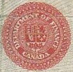 1 dollar 1923 - Red seal - Dominion of Canada