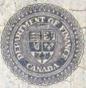 2 dollars 1914 - Banknote - Dominion of Canada - Seal only