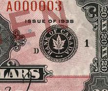 20 dollars 1935 - Billet de banque - English - Large seal