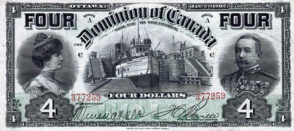 4 dollars de 1902 - Dominion of Canada - Boville