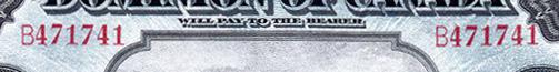 5 dollars 1912 - Billet de banque - Dominion of Canada - Préfixe B