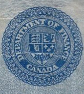 5 dollars 1912 - Banknote - Dominion of Canada - Seal only
