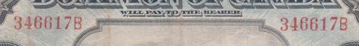 5 dollars 1912 - Billet de banque - Dominion of Canada - Suffixe B