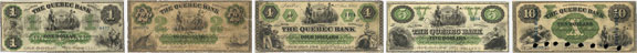 Quebec Bank banknotes of 1863