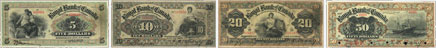Royal Bank of Canada banknotes of 1901