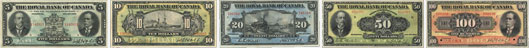 Royal Bank of Canada banknotes of 1913