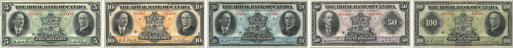 Royal Bank of Canada banknotes of 1927