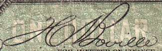 T.C. Boville - Signature on canadian banknote