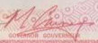 M. Carney - Signature sur les billets du Canada