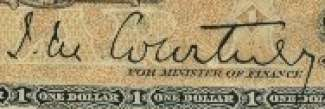 J.M. Courtney - Signature on canadian banknote
