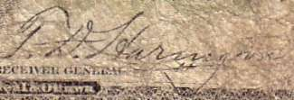 T.D. Harington - Signature on canadian banknote