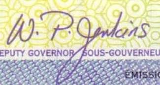 W.P. Jenkins - Signature sur les billets du Canada