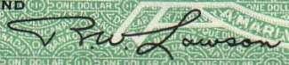 R.W. Lawson - Signature sur les billets du Canada