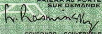 L. Bonin - Signature sur les billets du Canada
