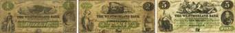 Westmorland Bank banknotes of 1861