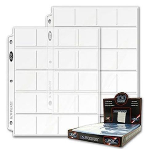 3 pages BCW coin sheets/pages 20 for 2x2