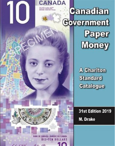 2019 Charlton Canadian Government Paper Money 31st Edition