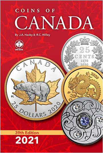 Coins of Canada Coin Catalogue - 39th Edition by Haxby & Willey