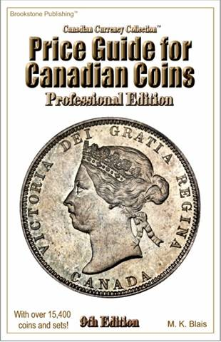 Price Guide for Canadian Coins - 9th Edition - Professional Edition