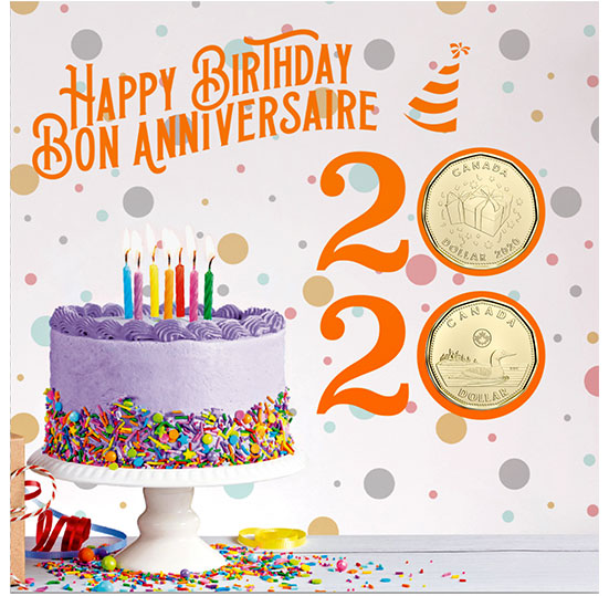 2020 Birthday 6-Coin Gift Card Set