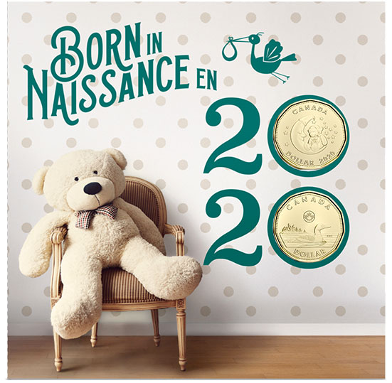 2020 Baby 6-Coin Gift Card Set