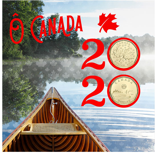2020 O Canada 6-Coin Gift Card Set