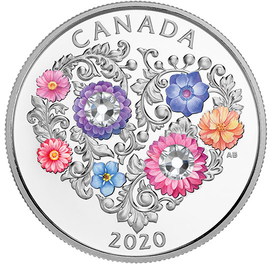 Celebration of Love - Pure Silver Coin made with Swarovski Crystals