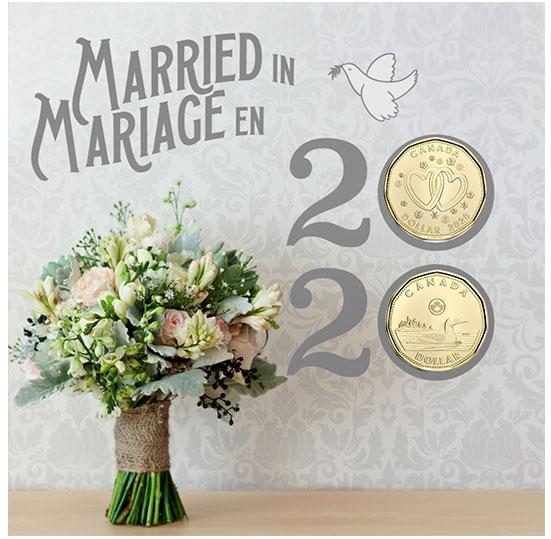 2020 Wedding 6-Coin Gift Card Set