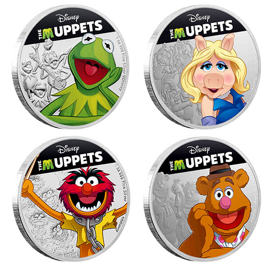 Disney's The Muppets - 1 oz. Pure Silver 4 Coin Subscription (2019)