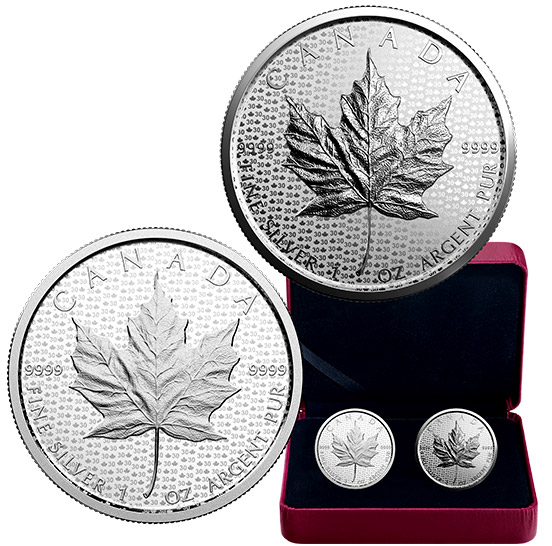 1 oz. Pure Silver 2-Coin Set - 30th Anniversary of the Silver Maple Leaf