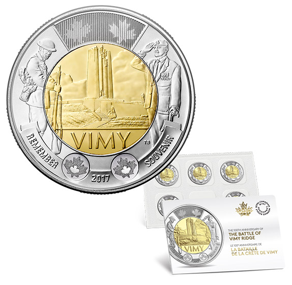2017 100th Anniversary of the Battle of Vimy Ridge $2 Circulation Coin Pack