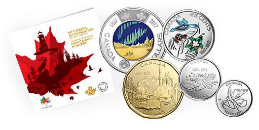 2017 Canada 150 5-coin collection