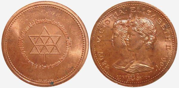 Confederation - Victoria / Elizabeth - 1967 - Bronze