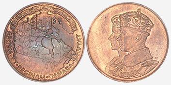 Medal - Royal Visit - 1939 - Bronze - 26 mm