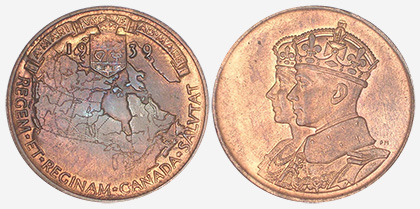 Medal - Royal Visit - 1939 - Bronze - 31 mm
