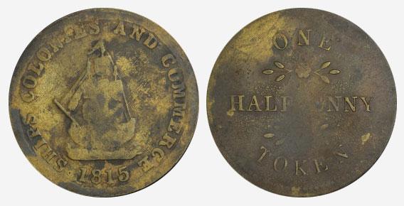 Public accomodation - 1/2 penny 1815 - Token